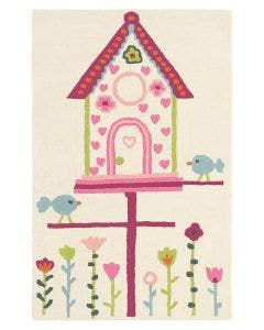 Kinderteppich Home Tweet Home Rosa