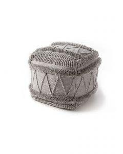 In- & Outdoor Pouf Toni Grau